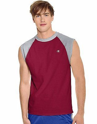 Champion Cotton Jersey Raglan Cap-Sleeve Men's T Shirt Men's Shirts