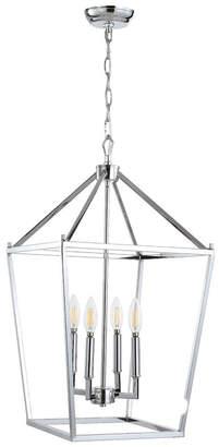 Jonathan Y Pagoda 4-Bulb Lantern Metal Led Pendant