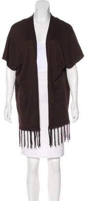 MICHAEL Michael Kors Fringe-Trimmed Knit Cardigan