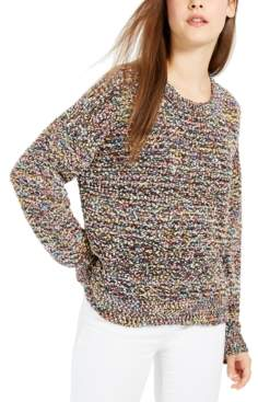 Ultra Flirt Juniors' Rainbow Popcorn Sweater