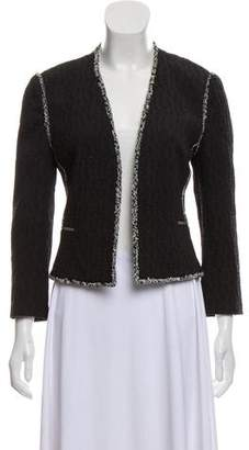 L'Agence Textured Open Front Jacket