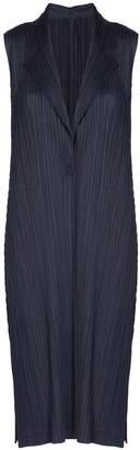Pleats Please Issey Miyake Long Sleeveless Coat