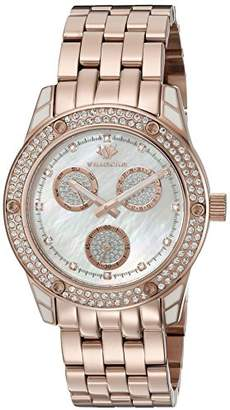 Mother of Pearl Wellington Mataura Women's Quartz Watch with Dial Analogue Display and Rose Gold Stainless Steel Plated Bracelet WN507-388