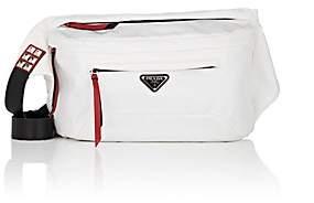Prada Women's Leather-Trimmed Belt Bag - White