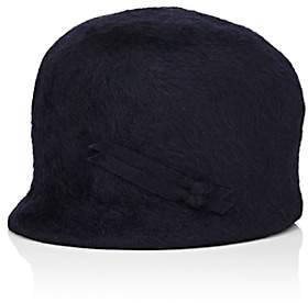 Jennifer Ouellette Women's Fur Felt Cloche Cap-Navy