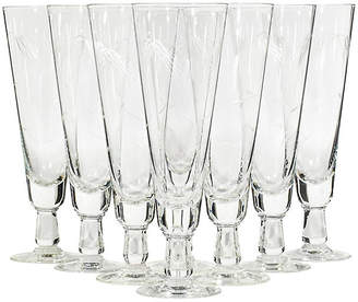 One Kings Lane Vintage 1960s Wheat Etched Pilsners - Set of 8