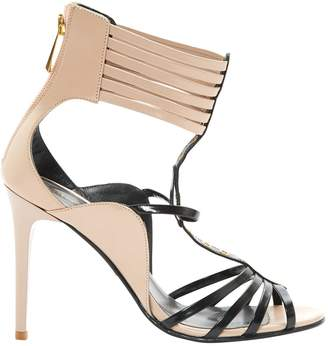 Just Cavalli Beige Leather Sandals