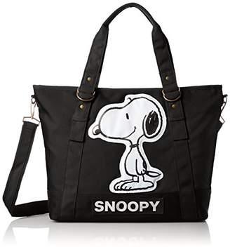 Snoopy [スヌーピー] ダイカット 横顔 2way ショルダー トートバッグ spr-101b BK ブラック(101)
