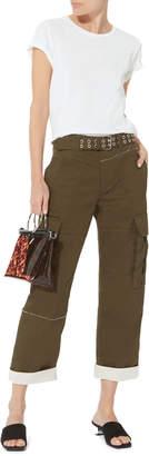Kara Tortoise PVC Crossbody Bag