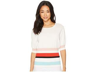 Vince Camuto Elbow Bubble Sleeve Color Block Waist Sweater Women's Sweater
