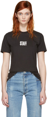 Vetements Black Hanes Edition Quick Made T-Shirt $360 thestylecure.com