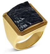 Jorge Adeler Men's Hematite 18k Gold Signet Ring