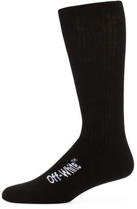 Off-White Men's Quote Typographic Socks
