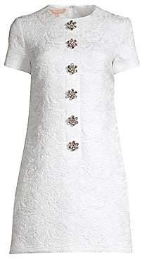 Michael Kors Women's Jacquard Floral Embellished Shift Dress