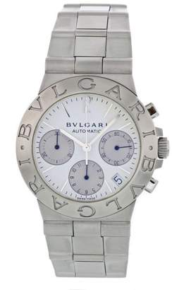 Bulgari Diagono CH 35 S Stainless Steel White Dial Automatic 35.5mm Mens Watch
