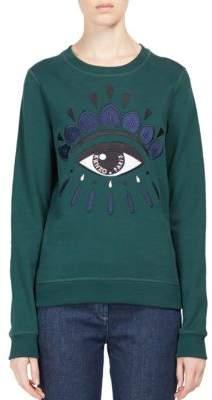 Kenzo Embroidered Eye Icon Cotton Sweatshirt