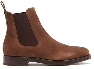 Officine Generale Suede Chealsea Boots - Mens - Brown