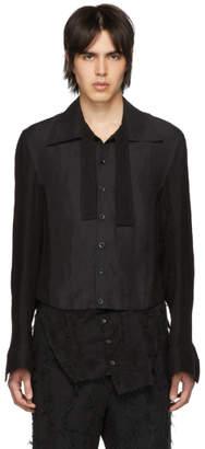 Ann Demeulemeester Black Removable Lace Shirt