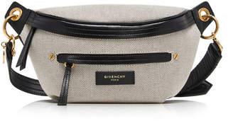 Givenchy Whip Leather-Trimmed Canvas Belt Bag Size: 85 cm