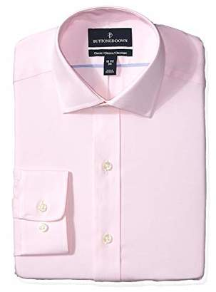 Buttoned Down Men's Classic Fit Spread Collar Solid Non-Iron Dress Shirt