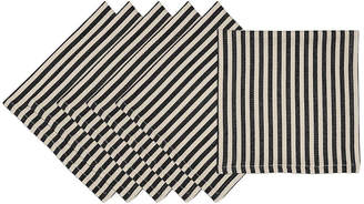 DESIGN IMPORTS Design Imports Black Petite Stripe Set of 6 Napkins