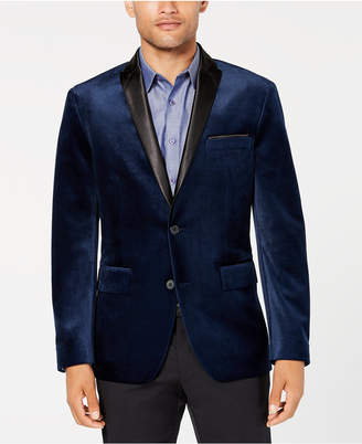 INC International Concepts I.N.C. Men's Classic Fit Mason Velvet Blazer, Created for Macy's