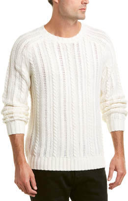 Vince Cable-Knit Wool & Cashmere-Blend Sweater
