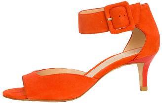 Pelle Moda Coral Suede Heel $155 thestylecure.com