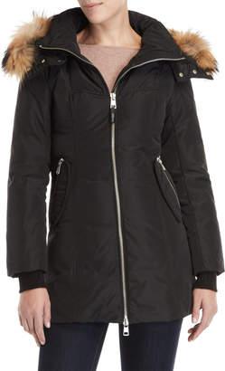 Ookpik Real Fur Trim Hooded Longline Coat