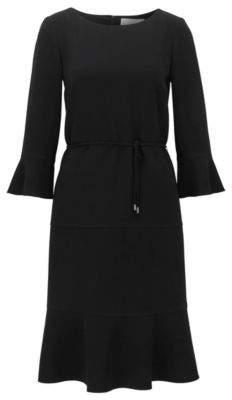 HUGO BOSS Flounce Dress Henryke 4 Black