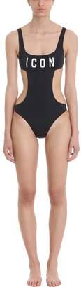 DSQUARED2 Black Icon Swimsuit