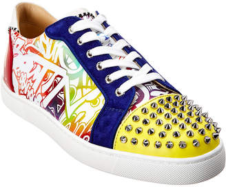 Christian Louboutin Seavaste Spikes Leather Sneaker