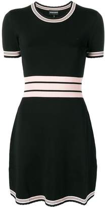 Emporio Armani contrast stripes knitted dress