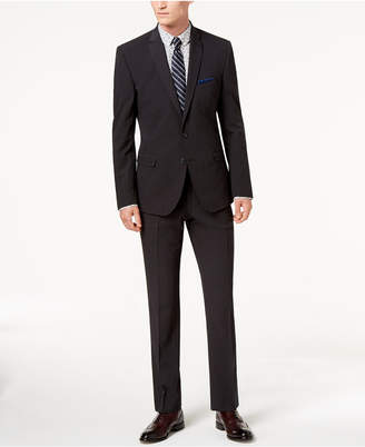 Nick Graham Men's Slim-Fit Stretch Charcoal Solid Suit