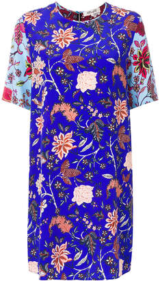 Diane von Furstenberg contrasting floral shift dress