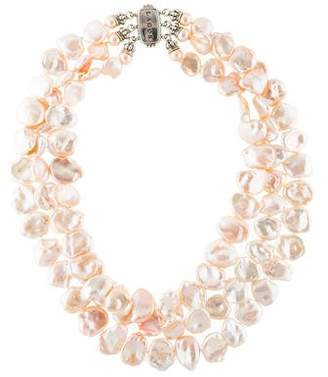 Lagos Multistrand Pearl Necklace