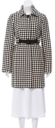 Tibi Two-Tone Knee-Length Coat