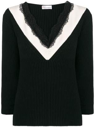 RED Valentino chevron jumper