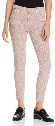 J Brand Alana Crop Skinny Printed Jeans in Adder
