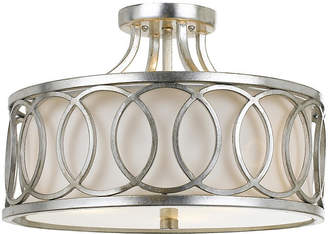 Crystorama 3-Light Ceiling Mount - Antiqued Silver