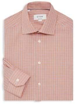 Eton Classic-Fit Plaid Dress Shirt
