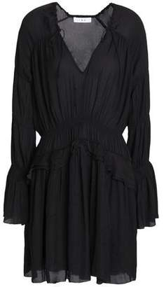 IRO Ruffle-Trimmed Gathered Voile Mini Dress