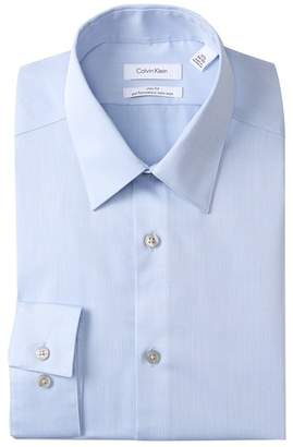 Calvin Klein Oxford Trim Fit Dress Shirt