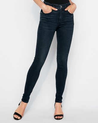 Express High Waisted Dark Wash Stretch+ Perfect Curves Leggings