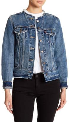 Levi's Collarless Trucker Denim Jacket