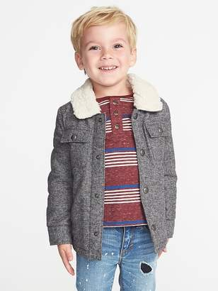 2e7c16506 Old Navy Sherpa-Lined Shirt Jacket for Toddler Boys