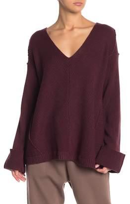 Wishlist V-Neck Oversized Knit Sweater