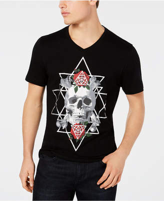 INC International Concepts I.n.c. Men's Triangle Skull Graphic T-Shirt, Created for Macy's
