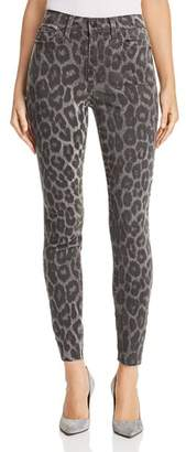 Joe's Jeans Charlie Ankle Skinny Jeans in Gray Leopard
