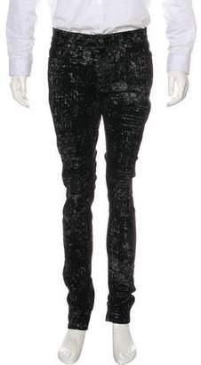 Saint Laurent 2016 D10 Metallic Velvet Pants